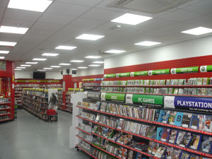 LED Panels installed in store
