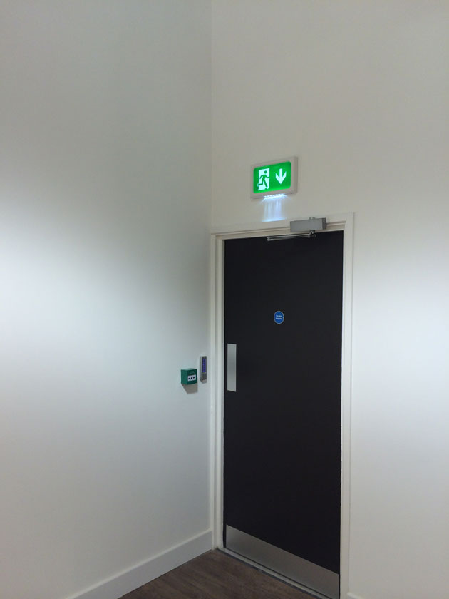 Emergency Exit Sign and Light